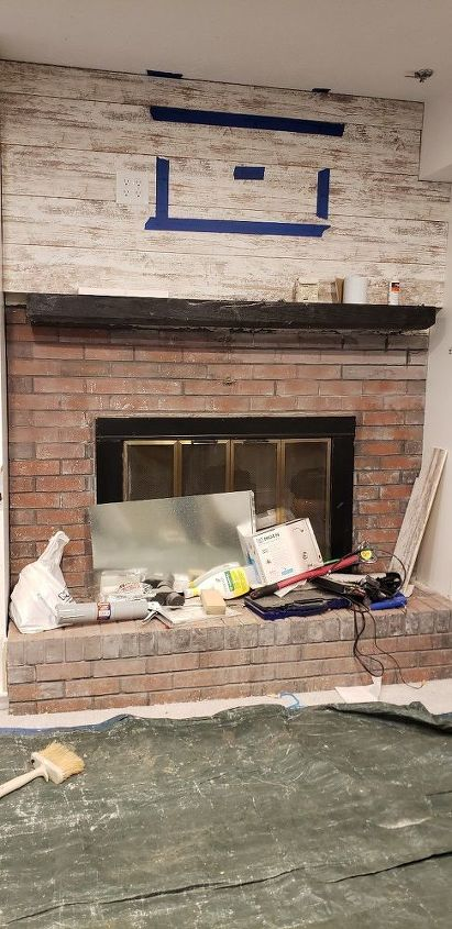 q how to remove paint from a brick fireplace