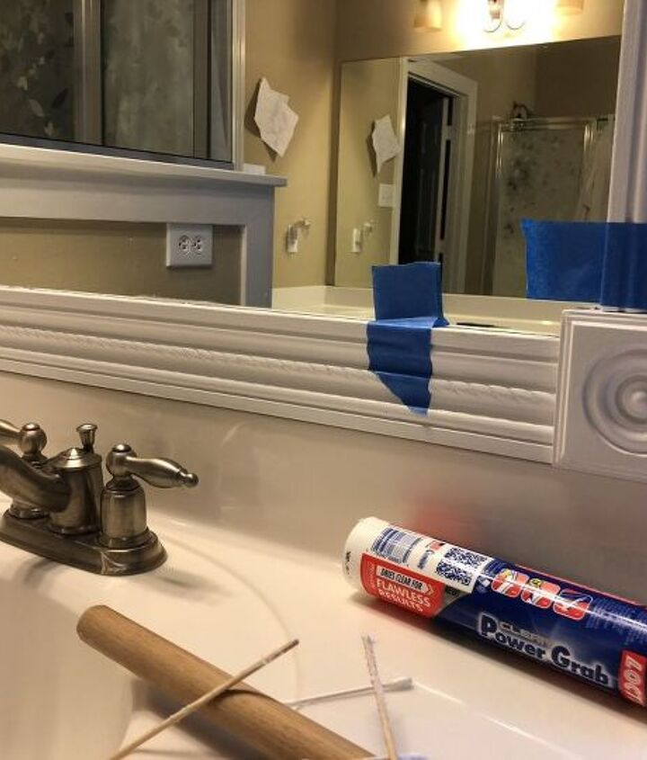 how to frame your builder grade mirror