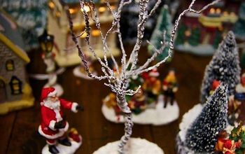 Easy DIY Miniature Trees for Your Christmas Village!