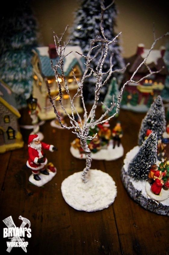 easy diy miniature trees for your christmas village
