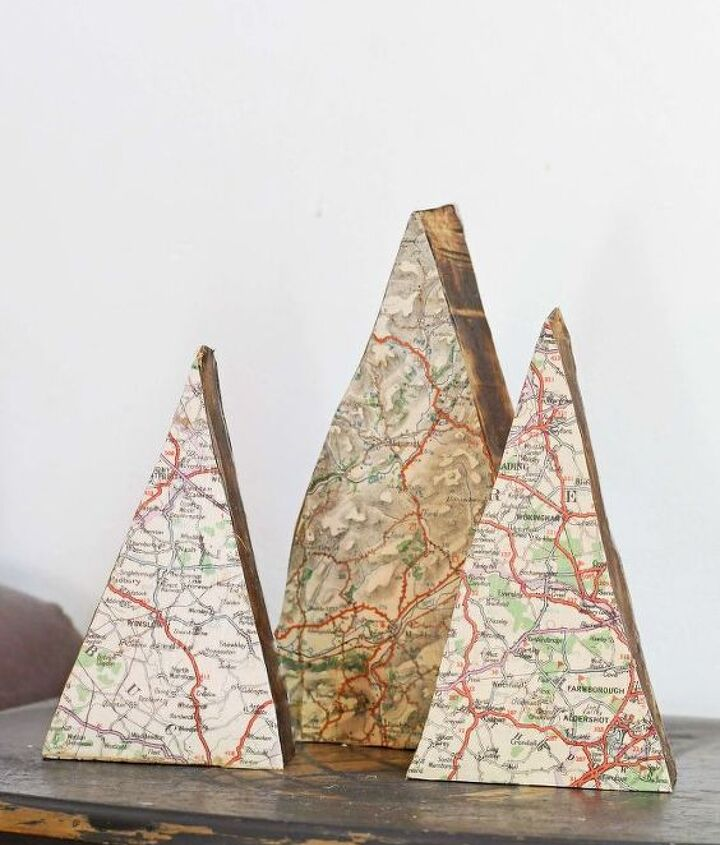 repurposed map ornaments