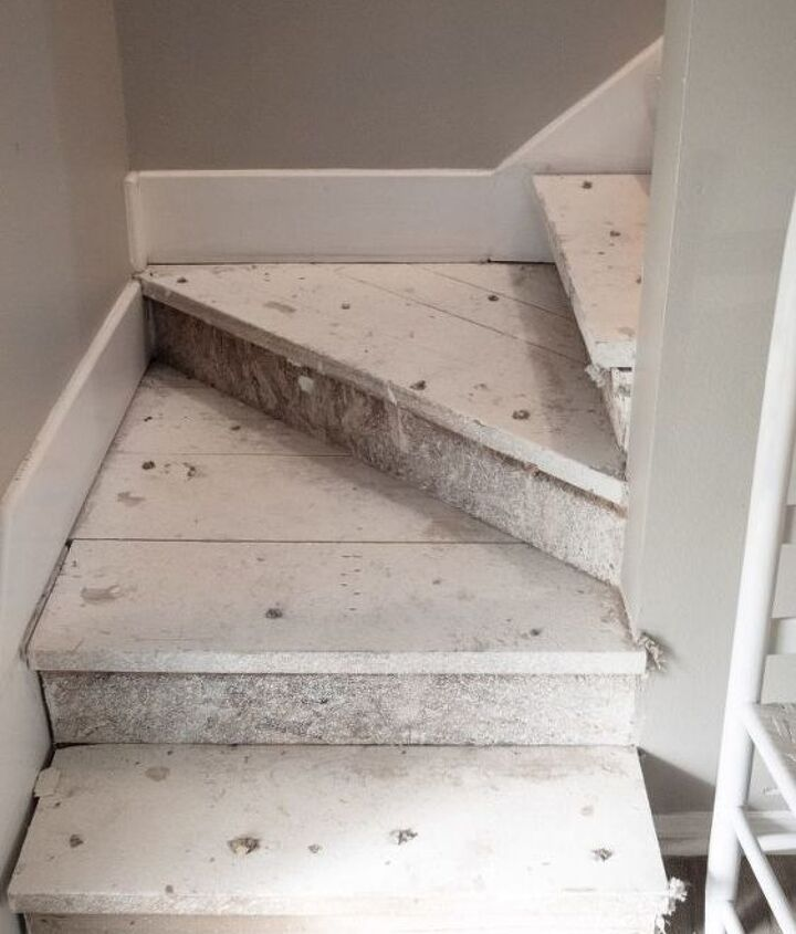 rustic unfinished staircase makeover