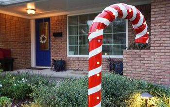 holiday yard decor from pvc pipe how to make a huge candy cane