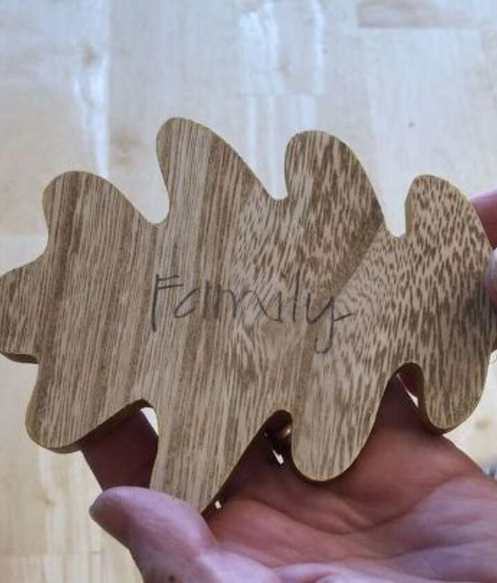 upcycle wooden leaves with a wood burning tool