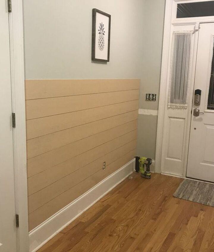 shiplap board and batten wall