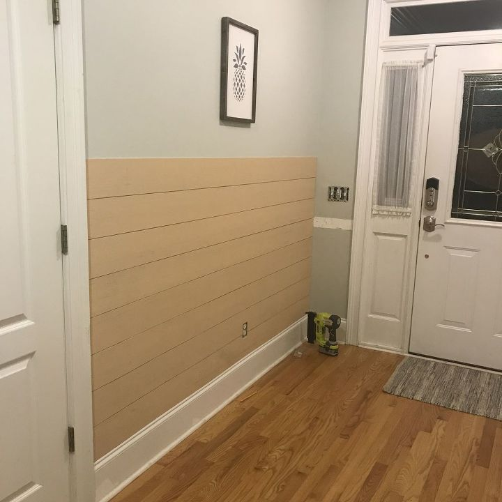shiplap board and batten wall