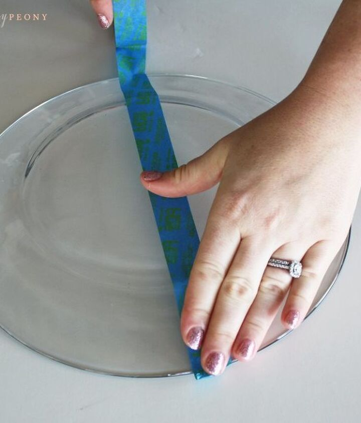 diy striped glass plates