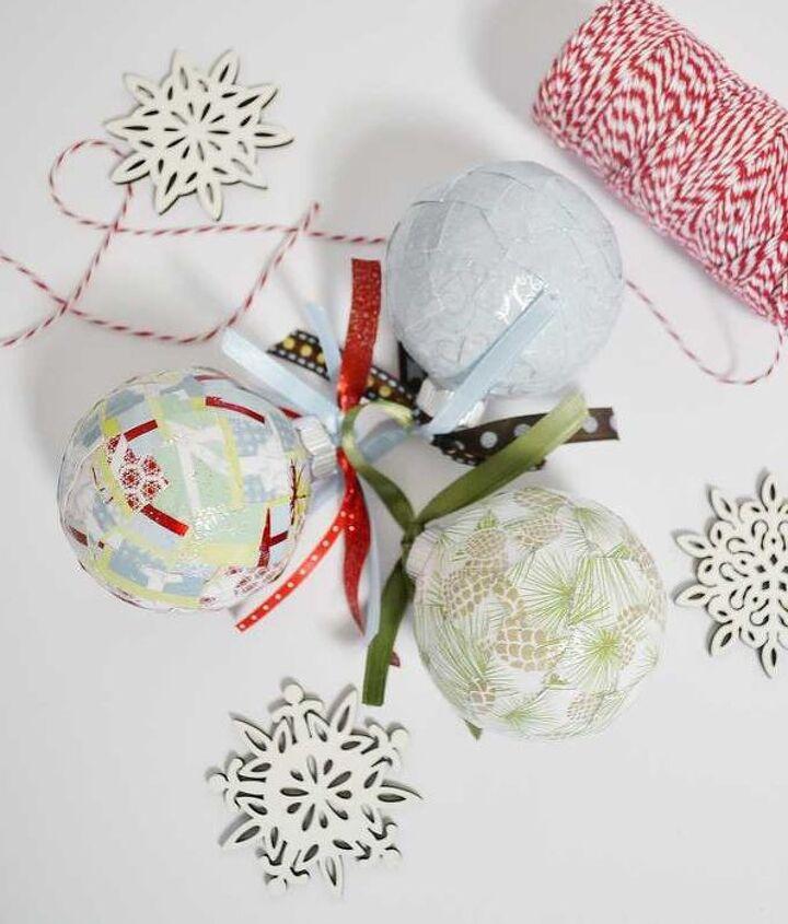 mod podged christmas ornaments