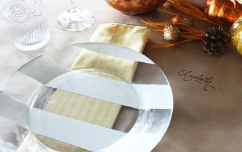 DIY Striped Glass Plates