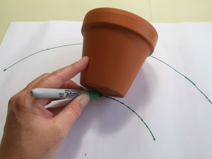 how to make pretty fabric covered flowerpots