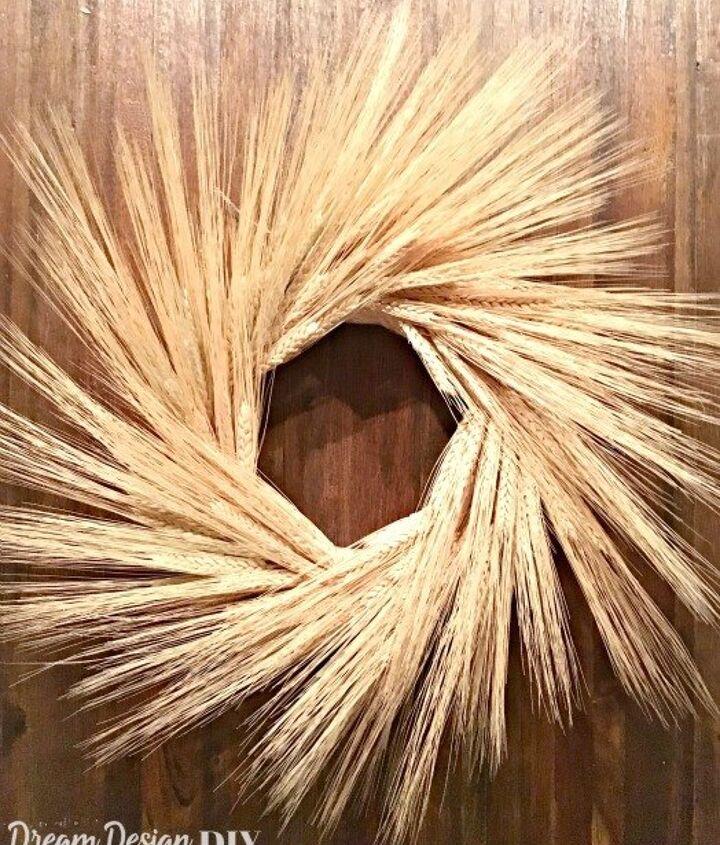 diy fall wheat wreath