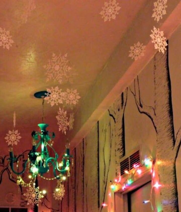 winter wonderland hallway decor