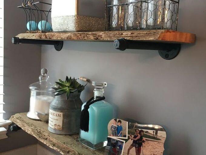 diy rustic industrial shelves from reclaimed barnwood