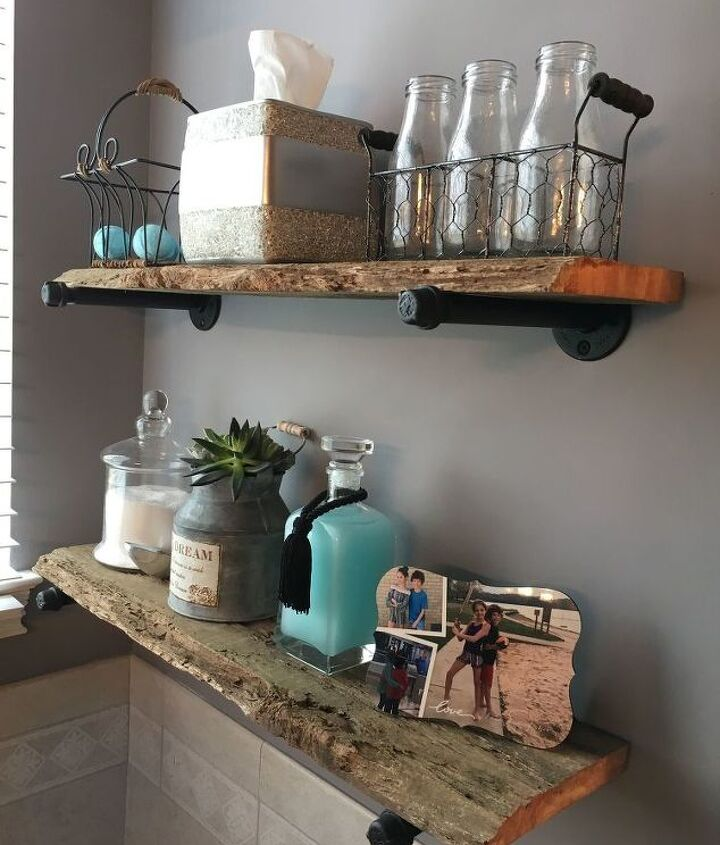 diy rustic industrial shelves from reclaimed barnwood