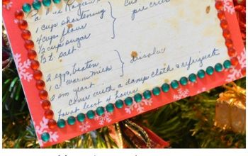 Heirloom Recipe Card Christmas Ornament