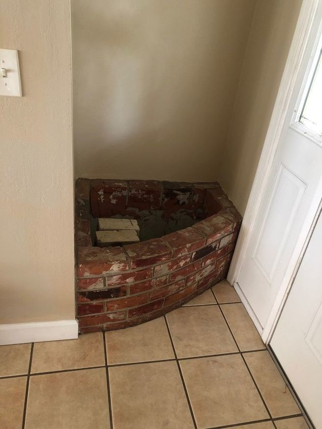 q what are your ideas for this interior brick planter