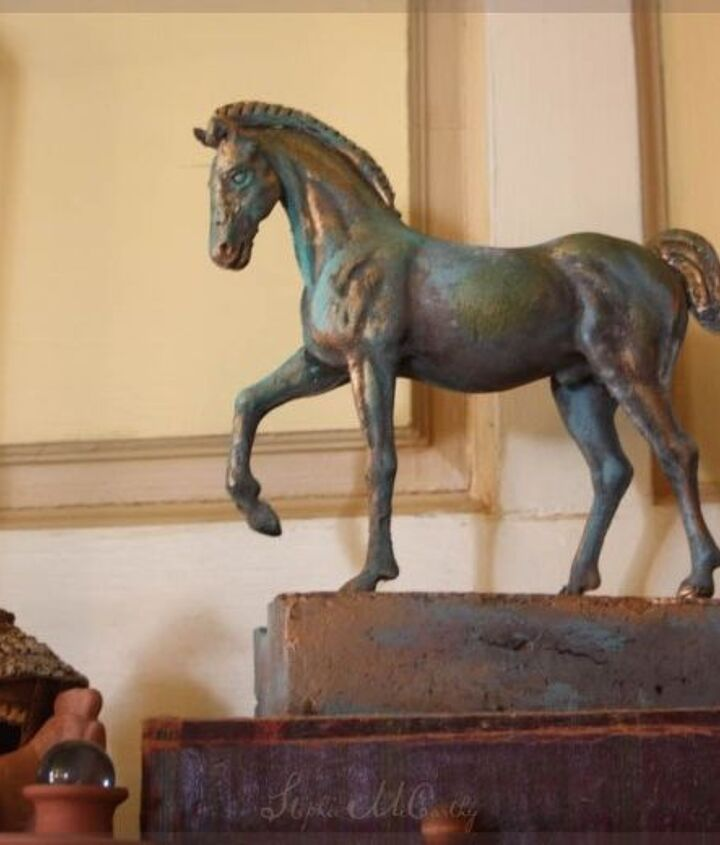 "My ""bronze"" horse started as a plastic toy."