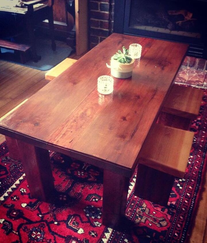 recycled timber coffee table