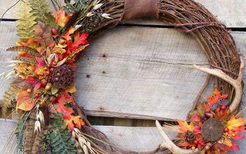 deer antler wreath for big buck night