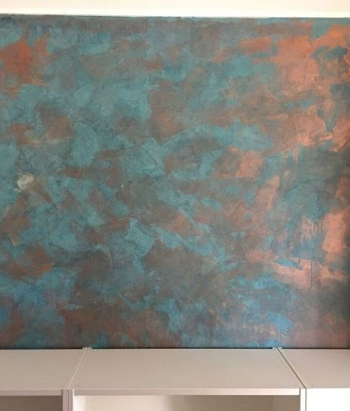 making a faux copper feature wall
