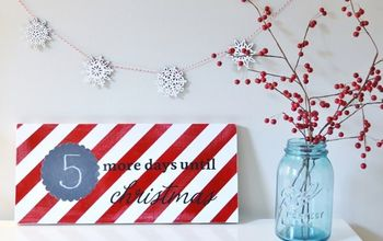 christmas countdown wooden sign
