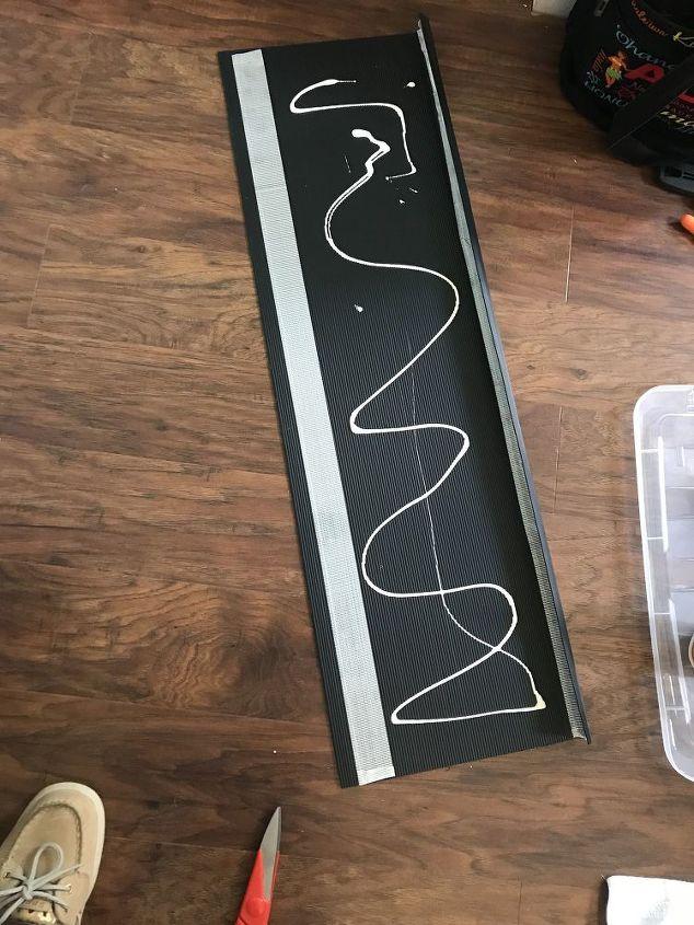 Gorilla glue on back of treads.
