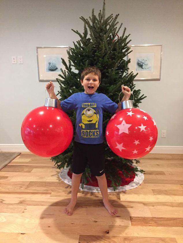 diy christmas beach ball ornaments