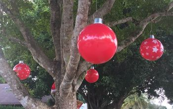DIY Christmas Beach Ball Ornaments