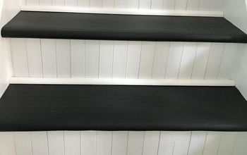 slip free stairs, Added quarter round for looks
