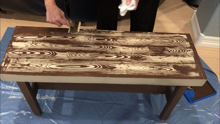 wooden bench upcycle