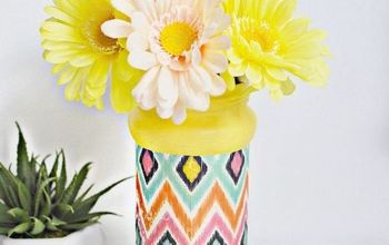 Decoupaged Flower Vase