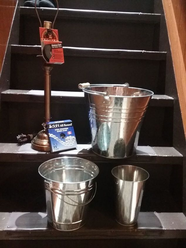 galvanized metal pails turned christmas tree