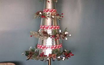 galvanized metal pails turned christmas tree