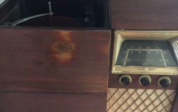 q refinishing radio cabinet
