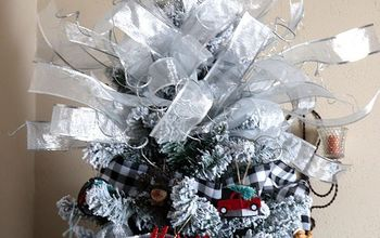 diy a simple poofy ribbon christmas tree topper with big impact