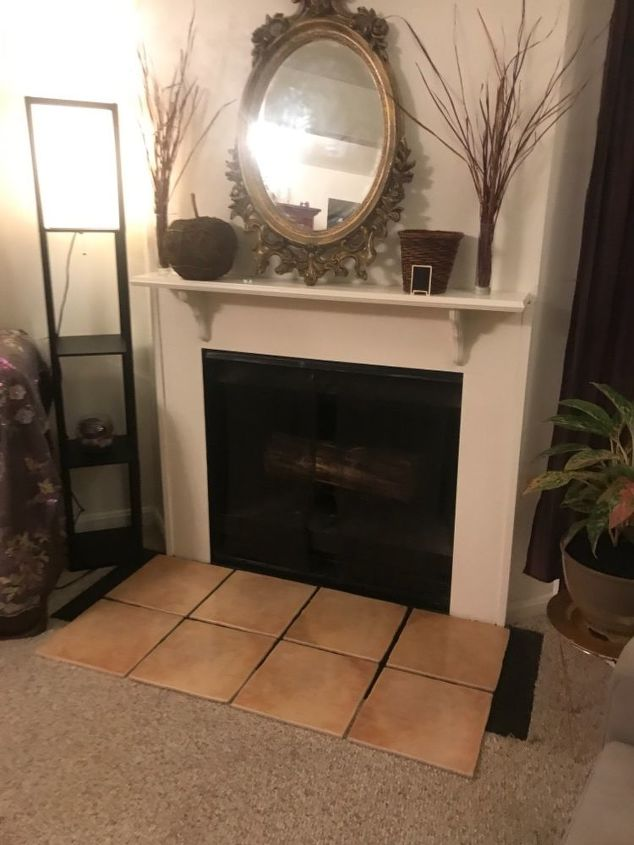 q how do i approach a fireplace hearth tile project