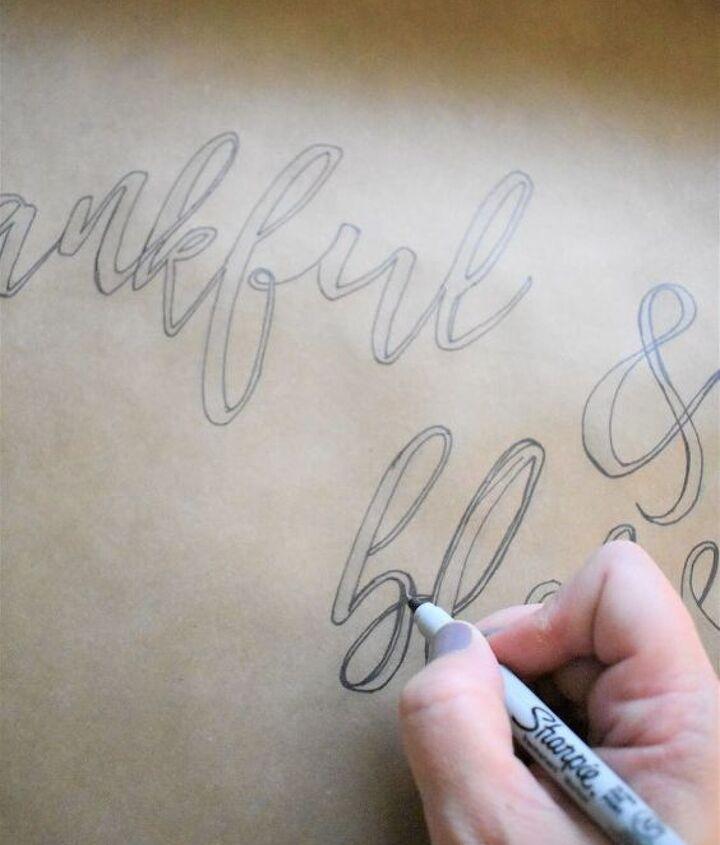 fall decor thankful scroll diy