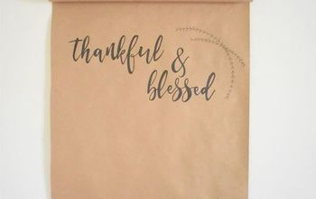 Fall Decor: Thankful Scroll DIY