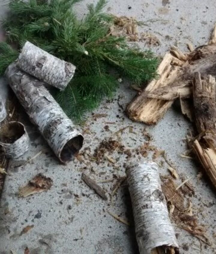 birch wrapped candles other decor