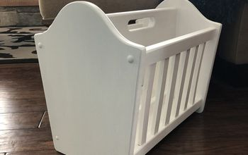 farmhouse white magazine rack