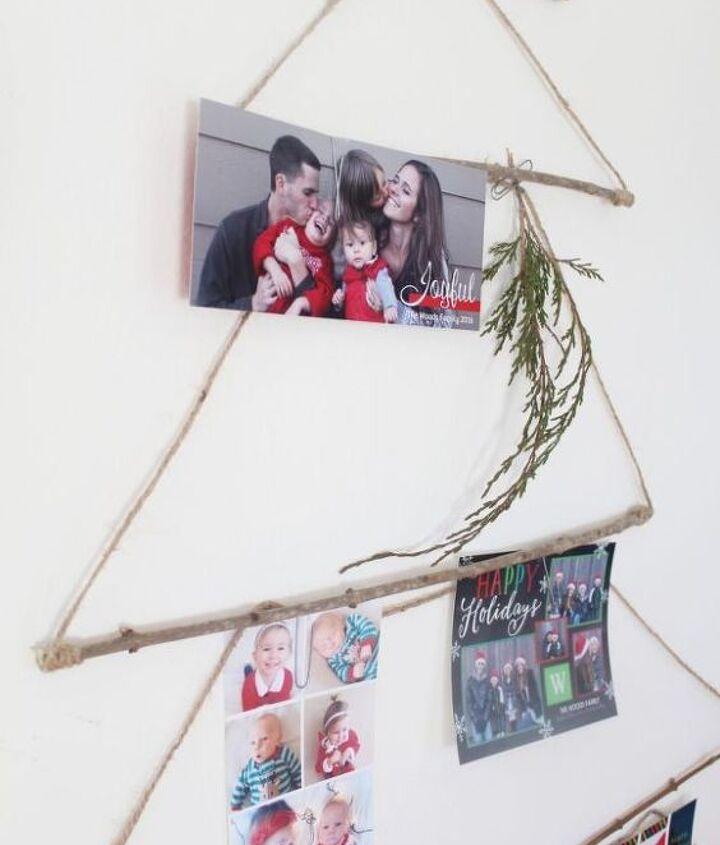 merry mail tree christmas card display