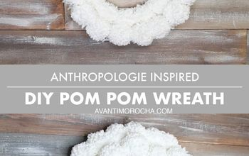 diy anthropologie inspired pom pom wreath