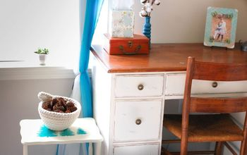 end table thrift store makeover with stencils