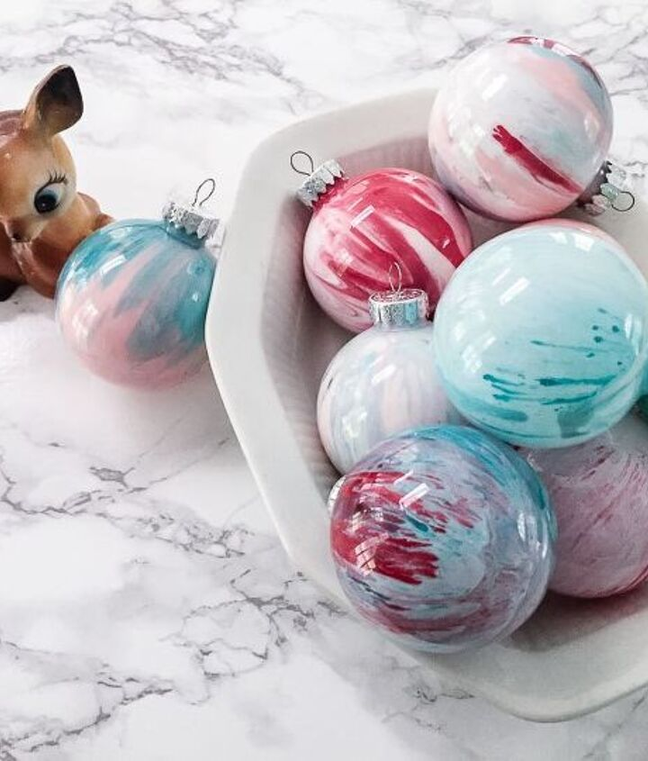 how to make paint swirl ornaments