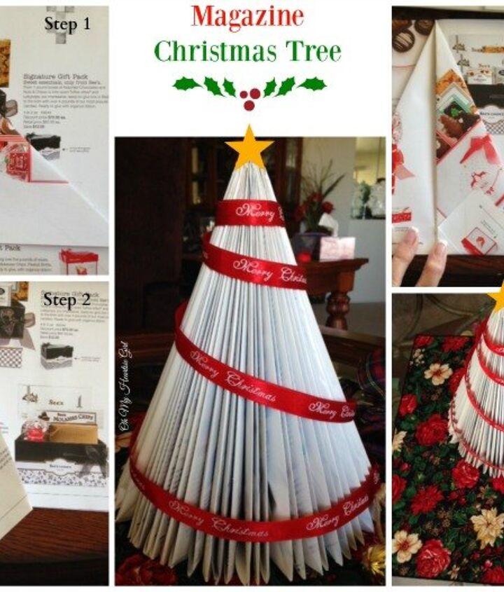 Finished Magazine Christmas Tree