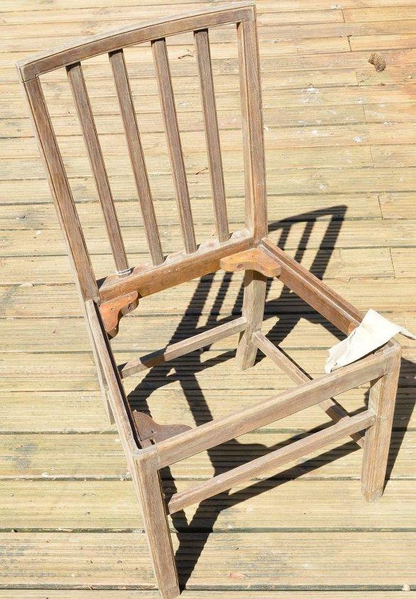 denim pocket patchwork chair