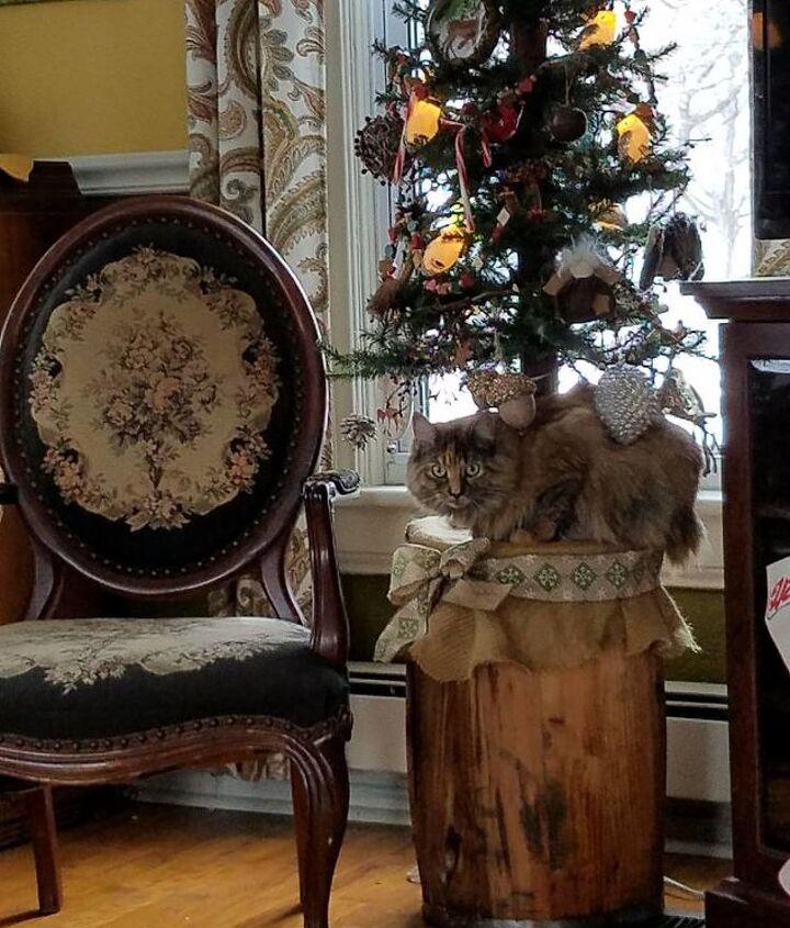a rustic barrel christmas tree