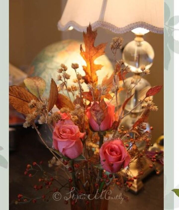 Place your creation along side fresh flowers.