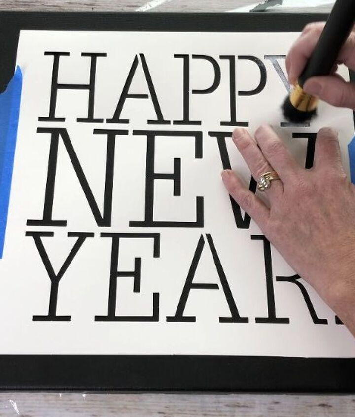 happy new year sign countdown garland