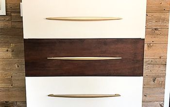 dresser makeover with appliance handles